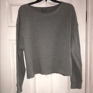 Wild fable grey crop sweater nwot